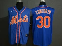 Mens Mlb New York Mets #30 Michael Conforto Blue 2020 Refreshing Sleeveless Fan Cool Base Nike Jersey