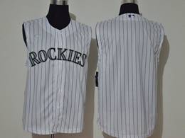 Mens Mlb Colorado Rockies Blank White 2020 Refreshing Sleeveless Fan Cool Base Nike Jersey