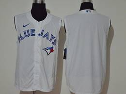 Mens Mlb Toronto Blue Jays Blank White 2020 Refreshing Sleeveless Fan Cool Base Nike Jersey