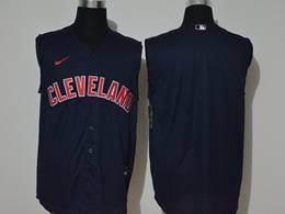 Mens Mlb Cleveland Indians Blank Blue 2020 Refreshing Sleeveless Fan Cool Base Nike Jersey