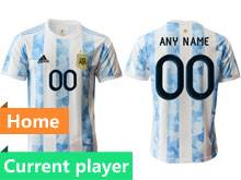 Mens 20-21 Soccer Argentina National Team Current Player White Home Thailand Short Sleeve Jersey