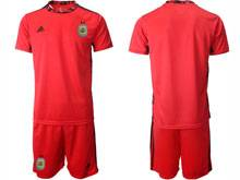 Mens 20-21 Soccer Argentina National Team ( Custom Made ) Red Goalkeeper Short Sleeve Suit Jersey