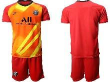 Mens 20-21 Soccer Paris Saint Germain ( Custom Made ) Red Goalkeeper Short Sleeve Suit Jersey