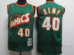 Mens Nba Seattle Supersonics #40 Shawn Kemp Green 1995-96 Mitchell&ness Swingman Hardwood Classics Jersey