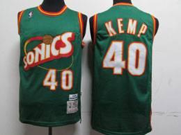 Mens Nba Seattle Supersonics #40 Shawn Kemp Green 1995-96 Mitchell&ness Swingman Hardwood Classics Jersey
