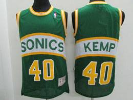 Mens Nba Seattle Supersonics #40 Shawn Kemp Green Mitchell&ness Swingman Hardwood Classics Jersey