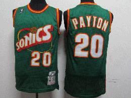 Mens Nba Seattle Supersonics #20 Gary Payton Green 1995-96 Mitchell&ness Swingman Hardwood Classics Jersey