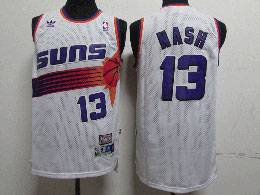 Mens Nba Phoenix Suns Custom Made White Adidas Hardwood Classics Swingman Jersey