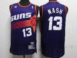 Mens Nba Phoenix Suns Custom Made Purple Adidas Hardwood Classics Swingman Jersey
