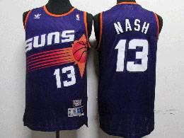 Mens Nba Phoenix Suns Custom Made Purple Adidas Hardwood Classics Swingman Jersey
