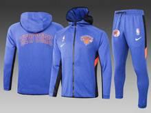 Mens Nba New York Knicks Blue Wind Coat And Blue Sweat Pants Suit ( Hoodie )
