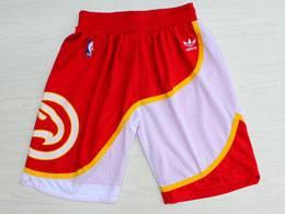 Mens Nba Atlanta Hawks Red Adidas Shorts