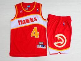 Mens Nba Atlanta Hawks #4 Webb Red Hardwood Classics Suit Short Jersey
