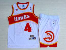 Mens Nba Atlanta Hawks #4 Webb White Hardwood Classics Suit Short Jersey