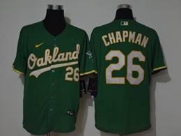 Mens Mlb Oakland Athletics #26 Matt Chapman Green Flex Base Nike Jersey