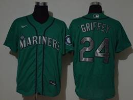 Mens Mlb Seattle Mariners #24 Ken Griffey Jr Green Flex Base Nike Jersey