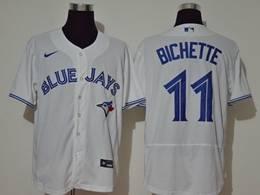 Mens Mlb Toronto Blue Jays #11 Bo Bichette White Flex Base Nike Jersey