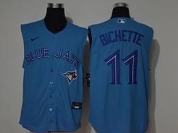 Mens Mlb Toronto Blue Jays #11 Bo Bichette Blue 2020 Sleeveless Cool Base Nike Jersey