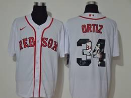 Mens Mlb Boston Red Sox #34 David Ortiz White Printing Cool Base Nike Jersey