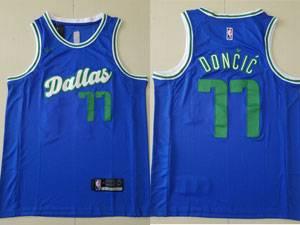 Mens 2021-20 Nba Dallas Mavericks #77 Luka Doncic Blue Nike City Edition Nike Swingman Jersey