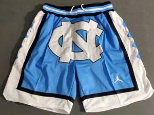 Mens Ncaa Nba North Carolina Jordan Brand Blue Shorts