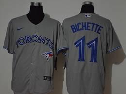 Mens Mlb Toronto Blue Jays #11 Bo Bichette Gray Flex Base Nike Jersey