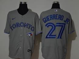 Mens Mlb Toronto Blue Jays #27 Guerrero Jr. Gray Flex Base Nike Jersey