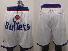 Nba Washington Wizards White Just Don Pocket Shorts