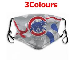 Mlb Chicago Cubs Face Mask Protection 3 Styles