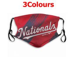 Mlb Washington Nationals Face Mask Protection 3 Styles