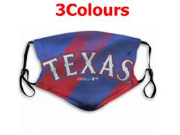 Mlb Texas Rangers Face Mask Protection 3 Styles