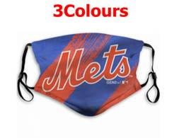Mlb New York Mets Face Mask Protection 3 Styles