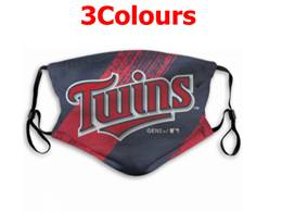 Mlb Minnesota Twins Face Mask Protection 3 Styles