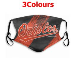 Mlb Baltimore Orioles Face Mask Protection 3 Styles