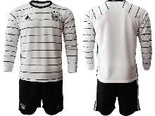 Mens Soccer Germany Ntaional Team ( Custom Made ) White 2021 European Cup Home Long Sleeve Suit Jersey