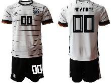 Mens Kids Soccer Germany Ntaional Team ( Custom Made ) White 2021 European Cup Home Short Sleeve Suit Jersey