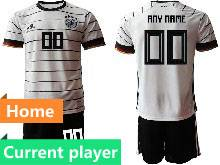 Mens Kids Soccer Germany Ntaional Team Current Player White 2021 European Cup Home Short Sleeve Suit Jersey