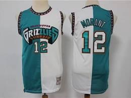 Mens Nba Memphis Grizzlies #12 Ja Morant Split Blue&white Mitchell&ness Swingman Nike Jersey