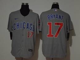 Mens Mlb Chicago Cubs #17 Kris Bryant Gray Flex Base Nike Jersey