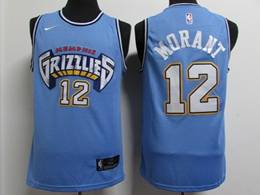 Mens Nba Memphis Grizzlies #12 Ja Morant Light Blue New City Edition Nike Swingman Jersey