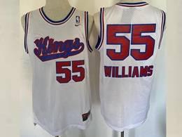 Mens Nba Sacramento Kings #55 Jason Williams White Mitchell&ness Mesh Jersey
