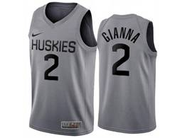Mens Ncaa Nba Uconn Huskies #2 Gianna Gray Nike Swingman Jersey