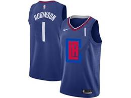Mens Nba Los Angeles Clippers #1 Jerome Robinson Blue 2020 Swingman Statement Edition Nike Jersey