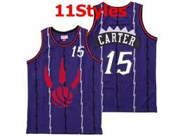 Mens Nba Toronto Raptors #15 Vince Carter Purple Mitchell&ness Swingman Jersey 11 Styles