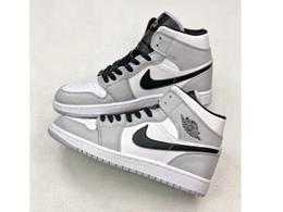 Men And Women Nike Air Jordan 1 Mi Basketball Shoes Black&gray Color