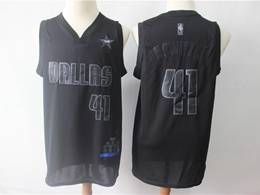 Mens Nba Dallas Mavericks #41 Dirk Nowitzki Black 2019 Mvp Nike Swingman Jersey