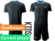 Kids 20-21 Soccer Mexico National Team Current Player Black Goalkeeper Short Sleeve Suit Jersey