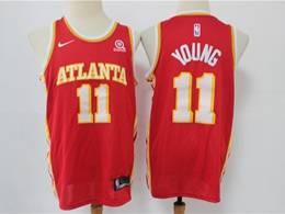 Mens Nba Atlanta Hawks #11 Trae Young Red 2020-21 Icon Edition Swingman Nike Jersey