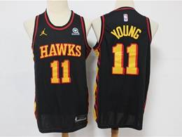 Mens Nba Atlanta Hawks #11 Trae Young Black 2020 New Swingman Jordan Jersey