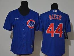 Women Youth Mlb Chicago Cubs #44 Anthony Rizzo Blue Cool Base Nike Jersey